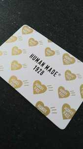 ヒューマンメイド 1928 京都 ショップカード 1枚/HUMAN MADE NIGO ゴールド 広告物 フライヤー 非売品 A BATHING APE BAPE