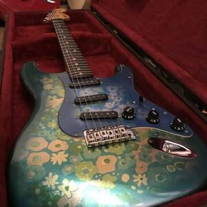 Fender ST72-75BFL ビンテージ ブルーフラワー 1984-1987年製 Japan Eシリアル リッチーブラックモアスキャロップ