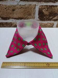 猫 首輪 付け襟 水玉 ピンク