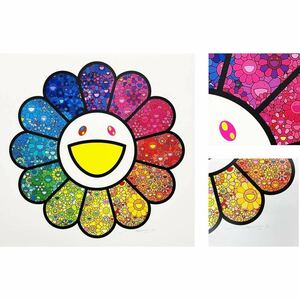 村上隆 新作 版画 お花がスパークル! MURAKAMI Takashi カイカイキキ kaikaikiki ZINGARO シルクスクリーン Flower Sparkles! Silkscreen
