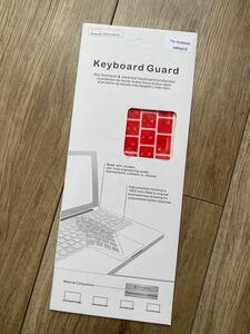 キーボードカバー MacBook 12インチ対応 Retina シリコンカバー 日本語 赤