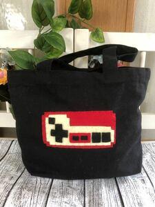 ハンドメイド ファミコン スーパーファミコン トートバッグ ランチバッグ