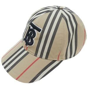 原宿CS) BURBERRY バーバリー 19SS モノグラム モチーフ ヴィンテージ チェック ベースボール キャップ TB ロゴ 8061000074547