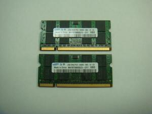 SAMSUNG Note for memory PC2-6400S 2GB (2 sheets total 4GB) CF-W9 CF-W8 CF-W7 operation goods
