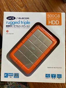 ポータブルハードディスク HDD 500GB ELECOM