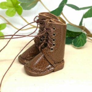 革細工 ミニチュア編み上げブーツ miniature boots.