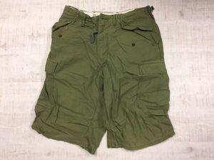 US ARMY 米軍 USアーミー 軍モノ ミリタリー 70s アメカジ オールド カーゴ ショートハーフパンツ メンズ USA製 27 カーキ