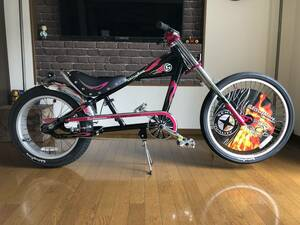 Schwin stingray OCC black × Baby pink chopper
