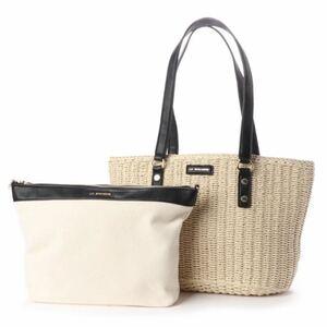 バッグインバッグ付きペーパーかごバッグMサイズ トートバッグ ハンドバッグ 新品未使用 かごバッグ