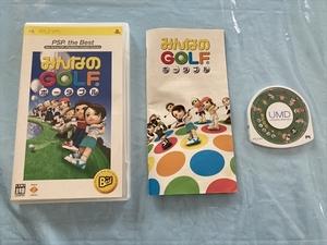 21-PSP-50 プレイステーションポータブル みんなのGOLFポータブル the Best版 動作品 PSP