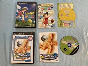21-PS2-473 動作品 プレイステーション2 みんなのテニス パワースマッシュ2 セット PS2 プレステ2