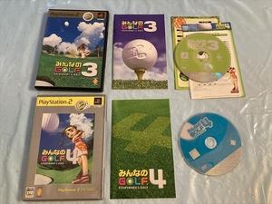 21-PS2-493 動作品 プレイステーション2 みんなのゴルフ3.4 セット PS2 プレステ2
