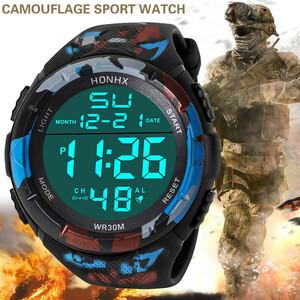 限定 08男性 アナログ LED デジタル ミリタリー アーミー スポーツ アウトドア 防水 腕時計 メカニカル スポーツ ウォッチメンズ