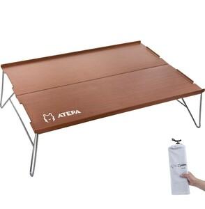 折りたたみミニテーブルアルミ製 アウトドア用 軽量コンパクト ソロキャンプ