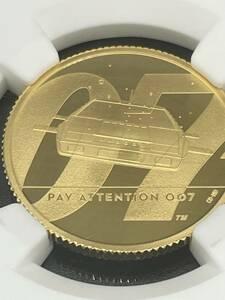 ★2020年 イギリス 007 Pay Attention ジェームズ ボンド 25ポンド 金貨 NGG PF70UC 最高鑑定