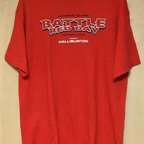 2005年 ヒューストン・テキサンズ BATTLE RED DAY Tシャツ XL アメフト 特大 Houston Texans VS COLTS 企業ロゴ COCA COLA バックプリント