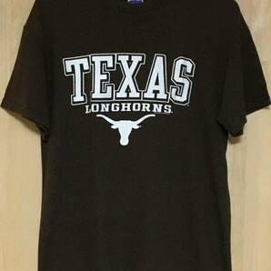 Texas Longhorns Tシャツ ブラウン M テキサス大学 ロングホーンズ シンプルロゴ 茶色 チョコレートブラウン