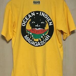 90s Vintage BAOBAB COMPANY マダガスカル バックプリント Tシャツ イエロー サーフ スイカ オールドサーフ 黒人 Madagascar ボックス