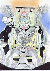 『機動戦士ガンダム』富沢和雄さん直筆のアムロ・レイのイラストです。