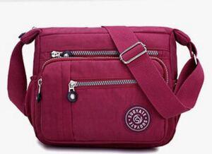 ショルダーバッグ 斜めがけ レディースバッグ ボディーバッグ 赤 軽量 斜めがけバッグ アウトドア iPad トラベルバッグ