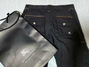 BURBERRY BLACK LABELカーゴパンツ73 美品 メンズ バーバリーブラックレーベル品番BMS42-618-09サイズ表記 ウエスト73