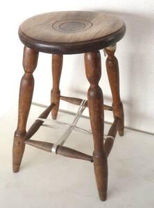 アンティーク スツール 無垢材 木製 椅子 古木 店舗什器 ディスプレイ チェア 古い丸椅子 イス 腰掛け 花台 古家具 古道具 置台