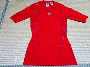 アディダス adidas サッカー トレーニング コンプレッションウェア インナーシャツ 半袖 [サイズ: O /カラー: 赤系]