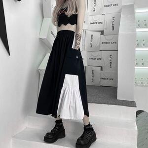 スカート フレアスカート ロングスカート