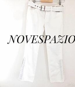 NOVESPAZIO ノーベスパジオ パンツ ホワイト カジュアルパンツ