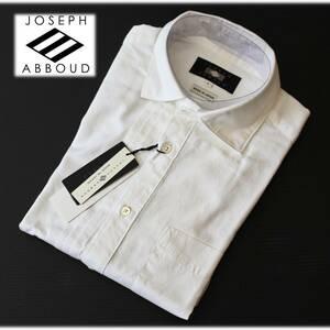 《JOSEPH ABBOUD ジョセフ アブード》新品 定価26,400円 上質素材 アシンメトリー長袖高級ドレスシャツ プリーツ ダイヤドビー L A4651