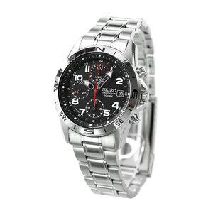 セイコー 逆輸入 海外モデル 高速クロノグラフ SND375P1 (SND375P) SEIKO メンズ 腕時計 クオーツ ブラック