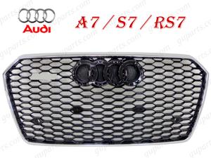 ★ アウディ A7 S7 → RS7 4G 2015~ フェイス チェンジ フロント バンパー グリル メッシュ クローム メッキ 4GCREC 4GCYPC 4GCTGL 4GCWUC