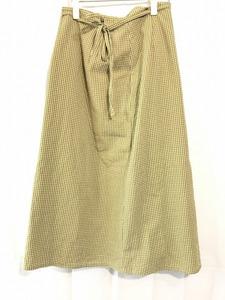 ■【Fil et Cucire】フィル・エ・クチーレ/巻きスカート風ロングスカート[サイズ表記なし/Lサイズ相当]緑《美品》