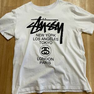 STUSSY Tシャツ 白 Lサイズ MADE IN Mexico