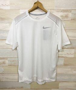 新品 XLサイズ NIKE ナイキ メンズ ドライフィット マイラー ランニング 半袖Tシャツ 白 ホワイト ランニングシャツ