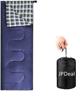寝袋 シュラフ シュラフカバー スリーピングバッグ 封筒型 210T防水 保温 軽量 車中泊 丸洗い可能 収納袋付き