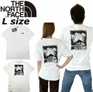ノースフェイス Tシャツ 半袖 ボックス マウンテン NF0A559V バックログ ホワイト Lサイズ THE NORTH FACE S/S STROKE MOUNTAIN TEE 新品