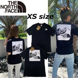 ノースフェイス Tシャツ ボックス 半袖 グラフィック バックロゴ トップス ブラック XSサイズ NF0A3S3R THE NORTH FACE GRAPHIC TEE 新品