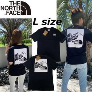 ノースフェイス Tシャツ ボックス 半袖 グラフィック バックロゴ トップス ブラック Lサイズ NF0A3S3R THE NORTH FACE GRAPHIC TEE 新品