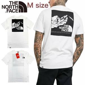 ノースフェイス Tシャツ ボックス 半袖 グラフィック バックロゴ トップス ホワイト Mサイズ NF0A3S3R THE NORTH FACE GRAPHIC TEE 新品