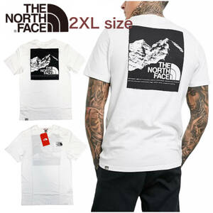 ノースフェイス Tシャツ ボックス 半袖 グラフィック バックロゴ トップス ホワイト 2XLサイズ NF0A3S3R THE NORTH FACE GRAPHIC TEE 新品