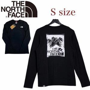 ノースフェイス ロンT 長袖 ボックス Tシャツ NF0A55ACL バックログ ブラック Sサイズ THE NORTH FACE STROKE MOUNTAIN TEE 新品