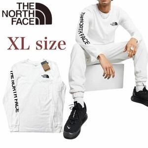 ノースフェイス ロンT 長袖 スリーブヒット NF0A471K 袖ロゴ ロングスリーブ ホワイト XLサイズ THE NORTH FACE L/S SLEEVE HIT 新品