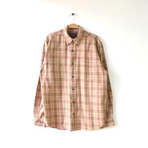 【送料無料】エディーバウアー コットン 長袖シャツ BDシャツ チェック柄 アウトドア メンズM Eddie Bauer アメカジ アメリカ古着 CA0286