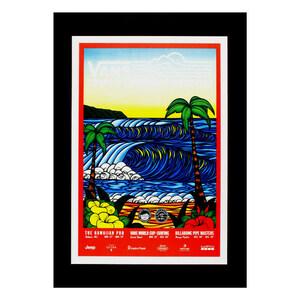 ハワイアンポスター サーフポスター M-56 アートプリントサイズ:縦29.8×横20.4cm