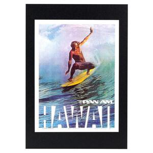 ハワイアンポスター サーフィンシリーズ PanAm Hawaii サーファー アートプリントサイズ:縦28.2×横21.1cm(コード無し)
