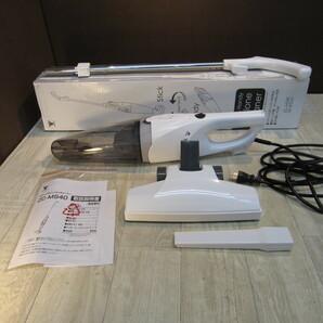 B8233【美品】[山善] 掃除機 2WAYスティッククリーナー ホワイト ZC-MS40(W)