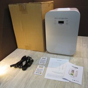 B8253【美品】冷温庫 10L ポータブル 小型 冷蔵庫 保温/保冷用 -2℃~60℃ 温度調節可 ワンタッチ操作