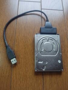 (新品)SATA/USB3.0 ケーブル、2.5インチHDD160GB(TOSHIBA)、2.5インチHDD60GB、3点セット
