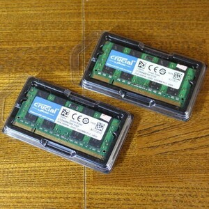 Crucial Note PC extension memory PC2-6400 DDR2 800mhz 2GB 200pin SO-DIMM×2 sheets